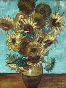 картина маслом Подсолнухи Ван Гога мастер-класс по живописи