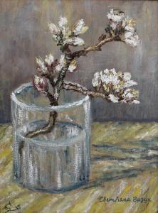 картина маслом ван гог цветущая ветка миндаля