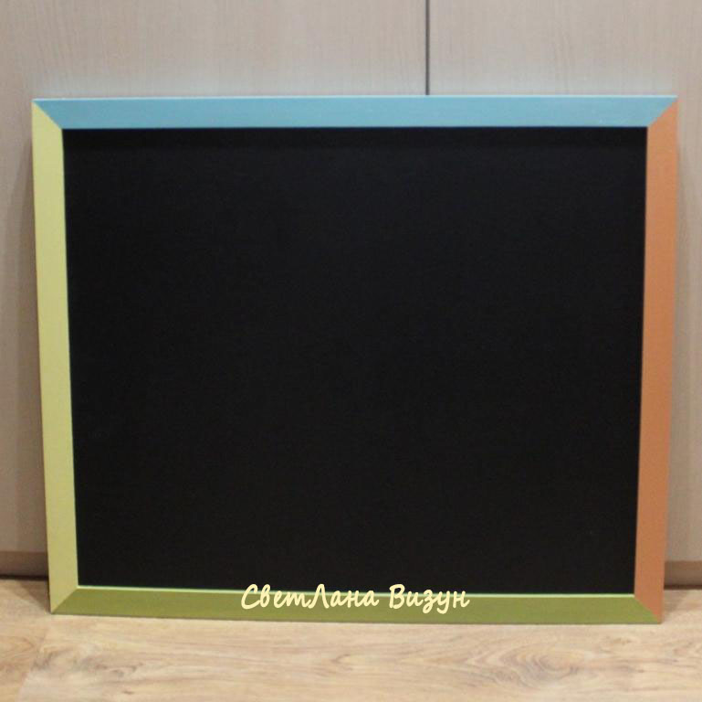 Магн-меловая доска в цветной раме, 95*65см, 3800р