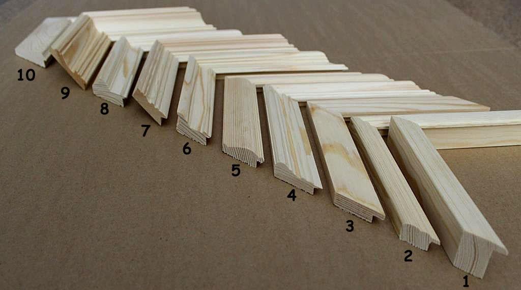 основные профили деревянных рам на заказ