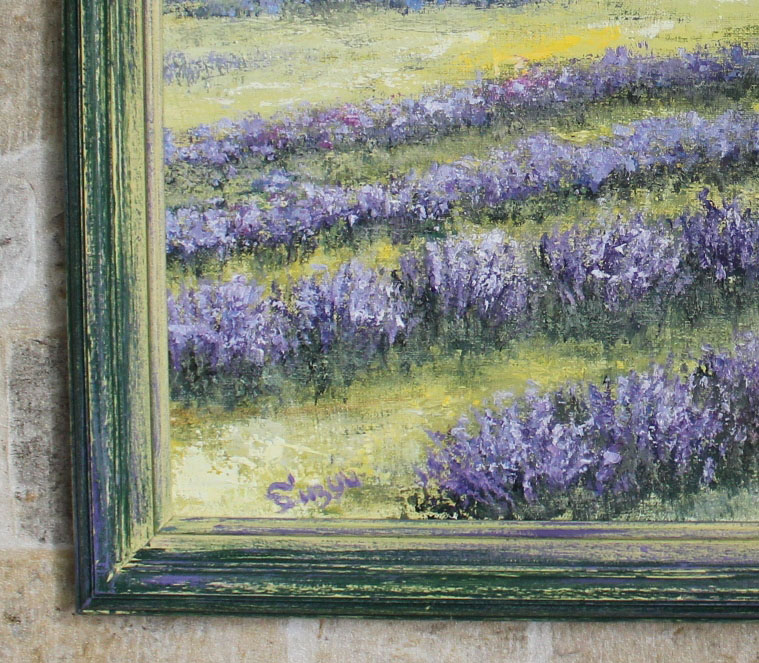 состаренная рама в цветах картины прованс