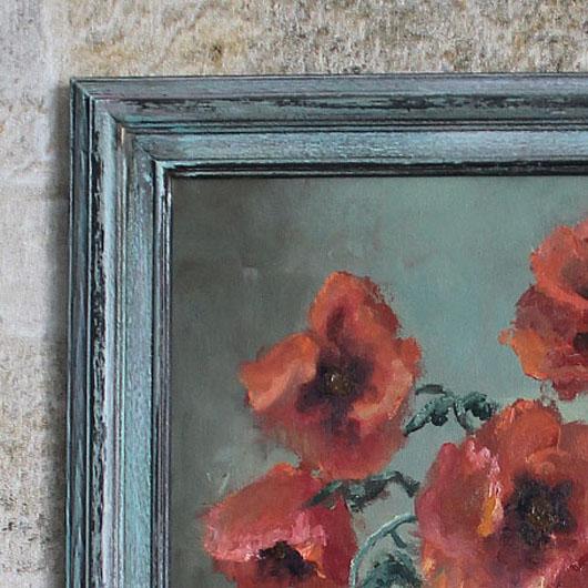 состаренная рама в цветах картины 2