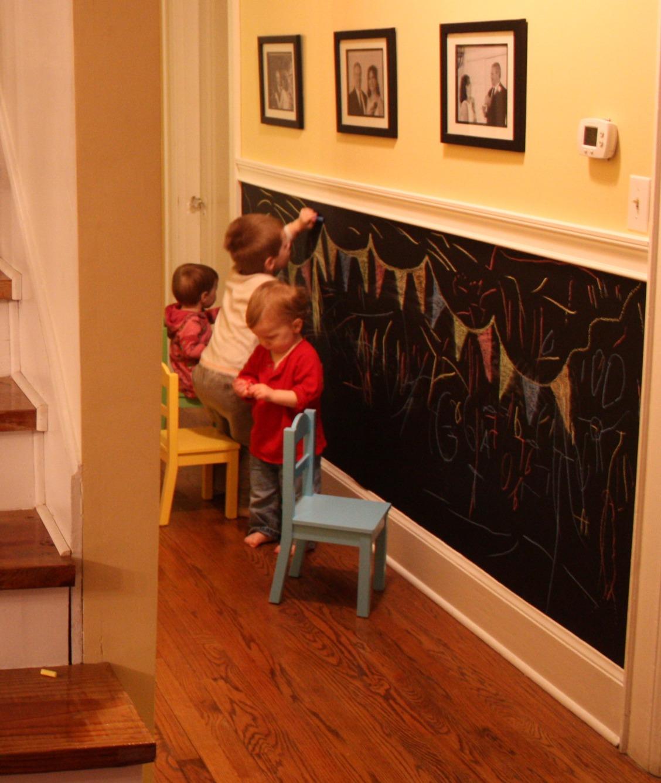 меловая стена для детей в интерьере