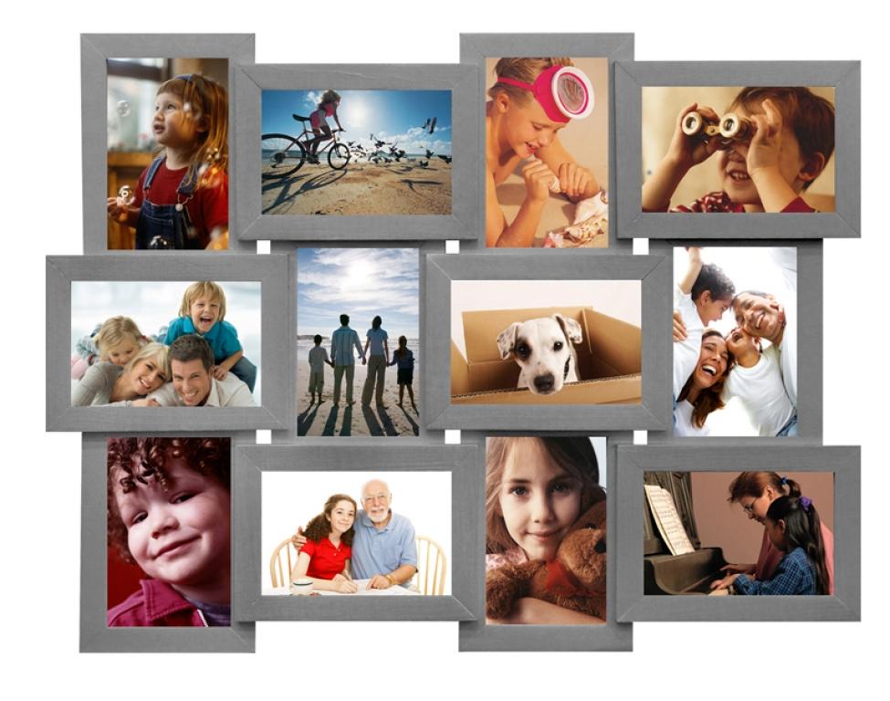 12 рамок фотоколлаж