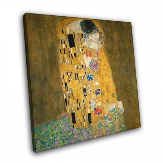 печать на холсте картины климт поцелуй