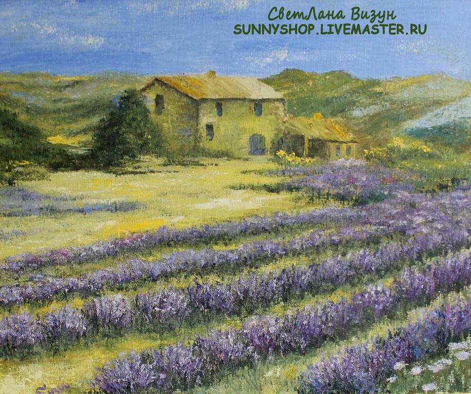 картина маслом лавандовый прованс визун