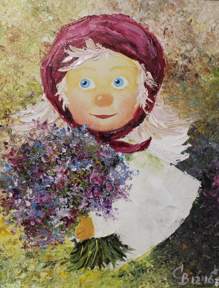 картина в детскую комнату ангелочек чувиляевой