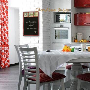 красивая магнитно-меловая доска на кухню