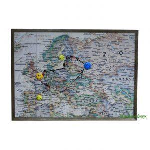 магнитно-маркерная доска карта европы