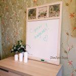 магнитно-маркерная доска цветы визун