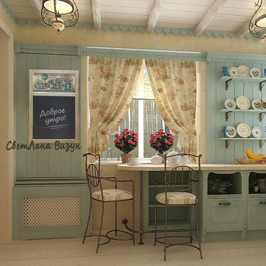 меловая доска на кухню цветы прованс
