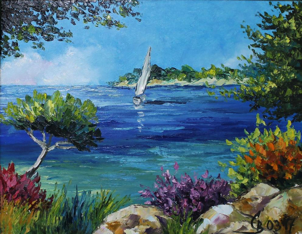 картина яркий морской пейзаж