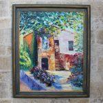 картина маслом дом в Тоскане