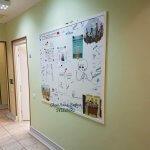 магнитная доска и маркерная доска в интерьере клиники