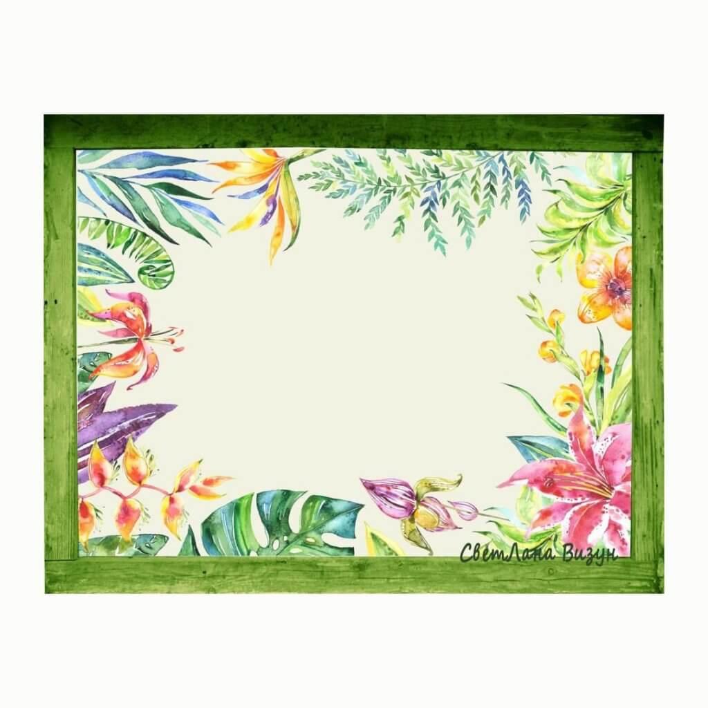 магнитно-маркерная доска для заметок цветы