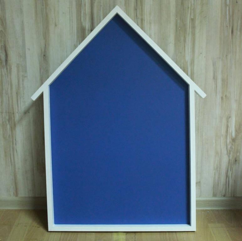 магнитно-меловая доска домик синяя
