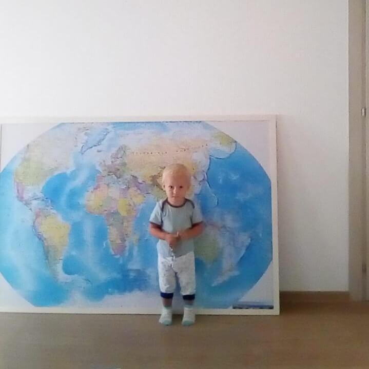 Магнитная доска Карта мира 100х150см