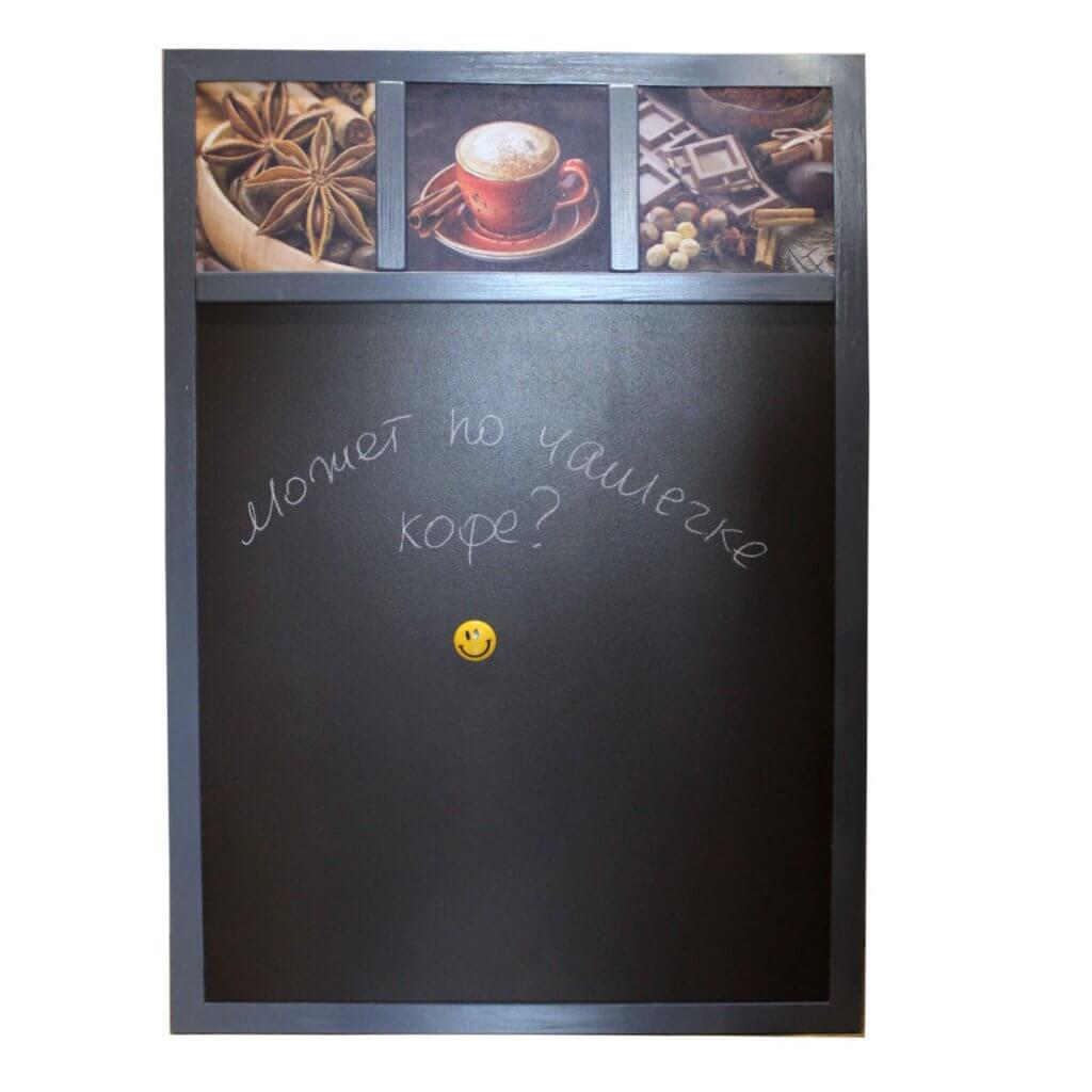 магнитно-меловая доска на кухню кофе