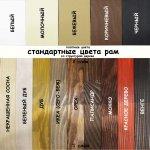 Варианты стандартных цветов деревянной рамы