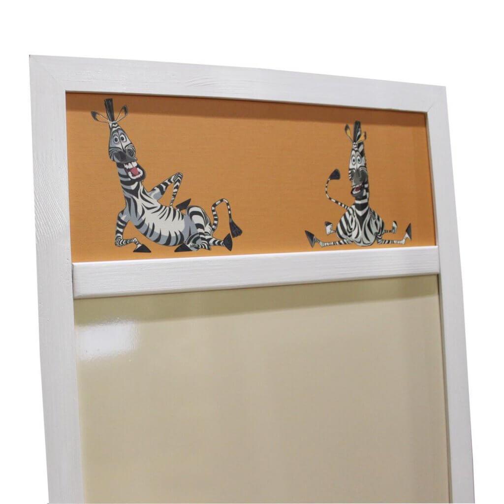 магнитно-маркерная доска с зеброй из Мадагаскара