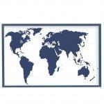 интерьерная карта мира индиго магнитная доска, 65х95см, 3900р