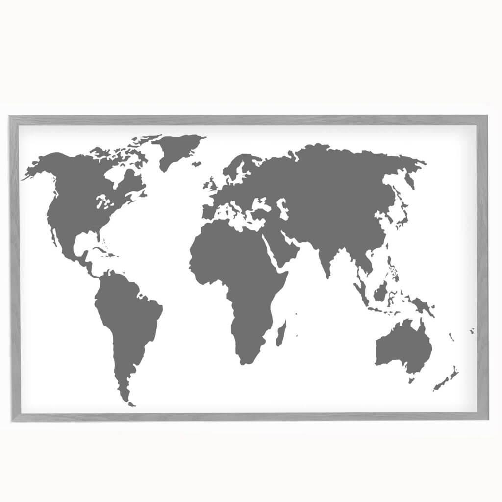 интерьерная карта серая магнитная доска