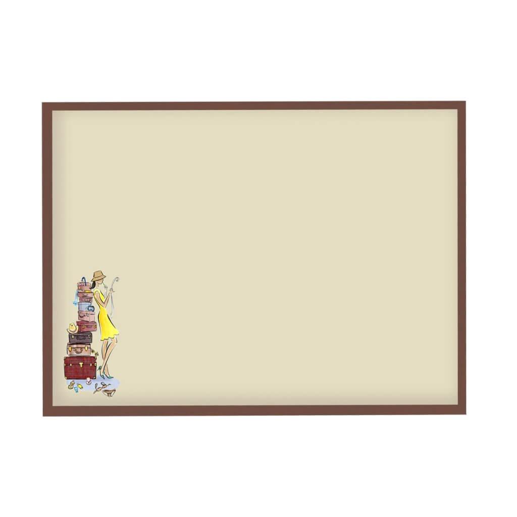 Доска для магнитов из путешествий для девушки 65х95 см, цвет рамы на выбор, 3600р