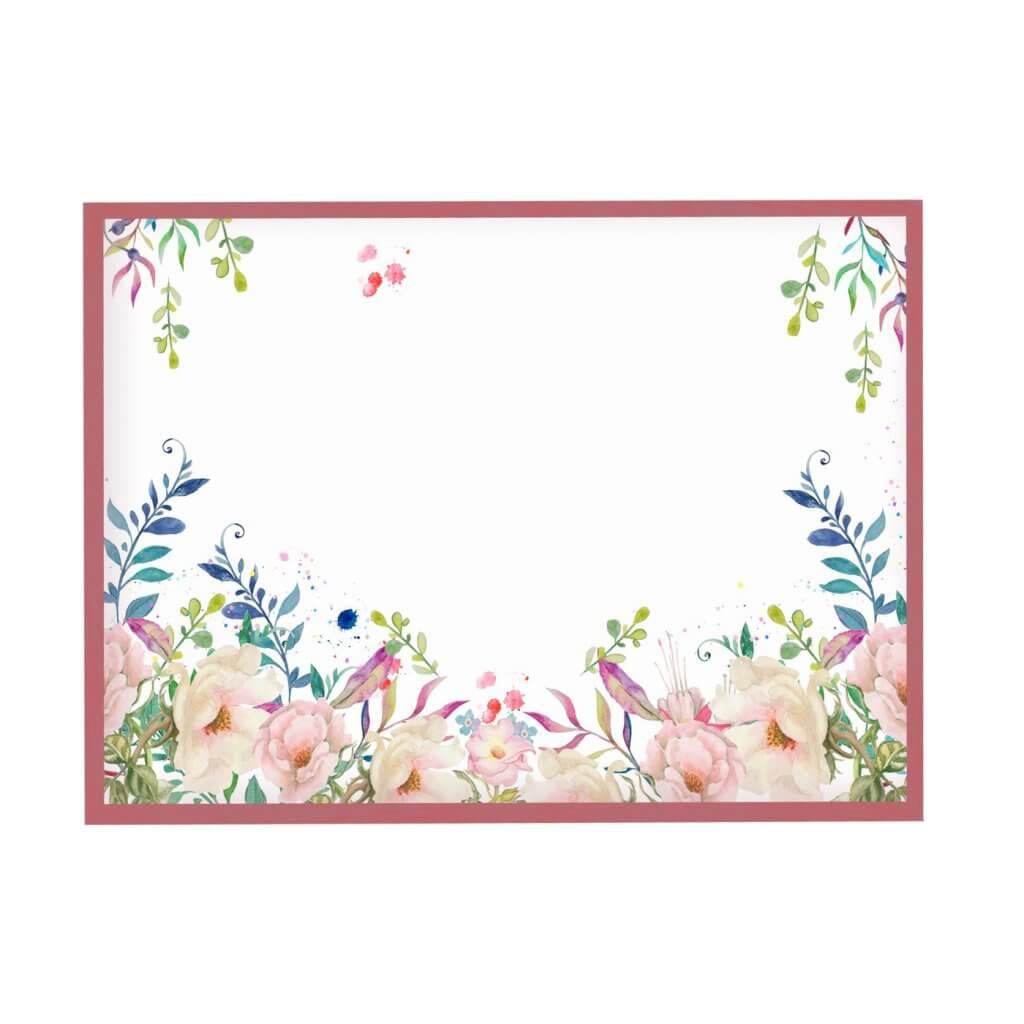 Магнитная картина на холсте розовые нежные цветы 65х95 см, цвет рамы на выбор, 4700р