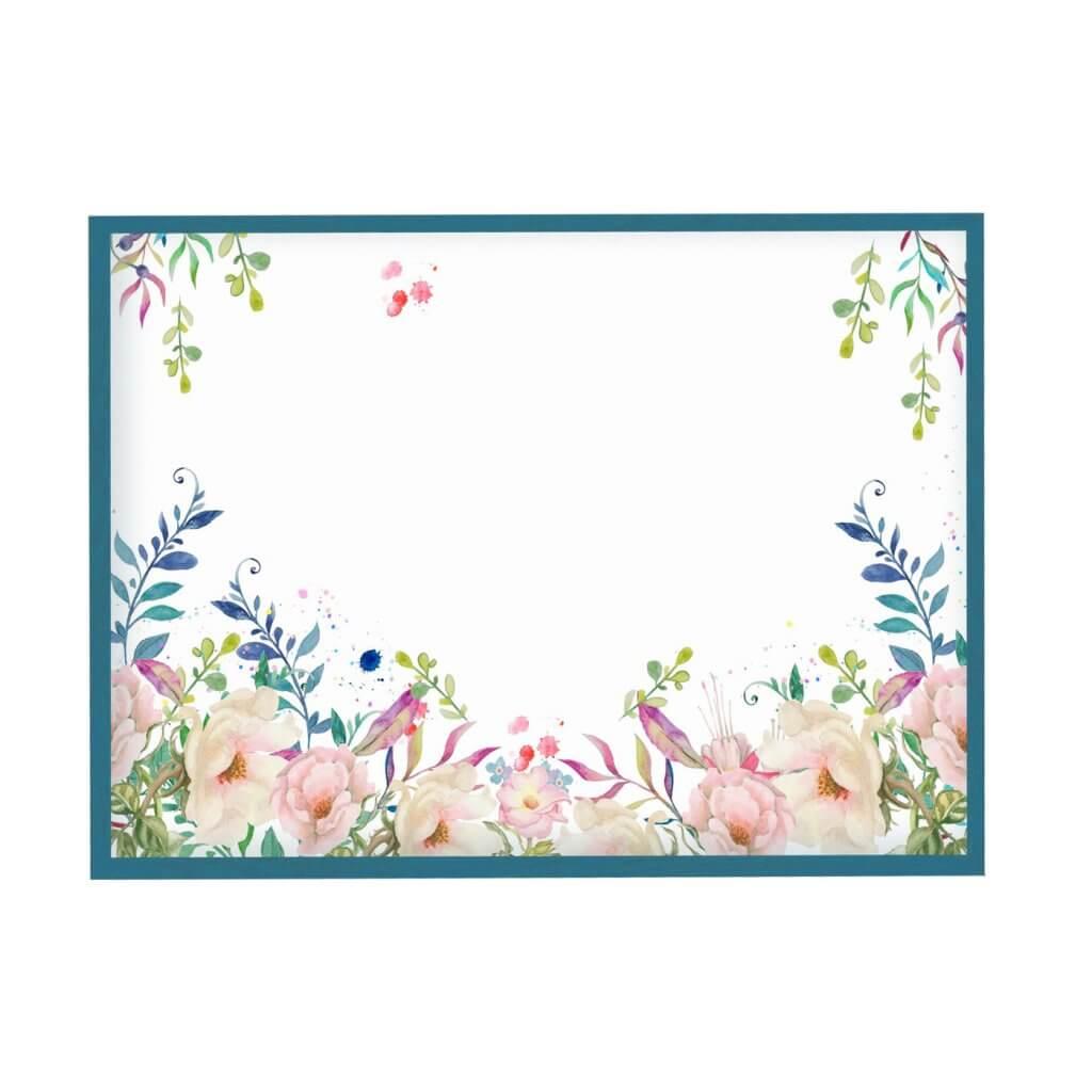 магнитно-маркерная доска розовые нежные цветы 65х95 см, цвет рамы на выбор, 4500р
