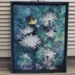 Картина маслом интерьерные цветы, 35х45см, 4560р, рама+1000р