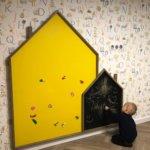 Двойной домик доска для рисования в детскую