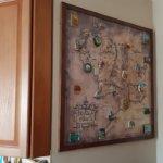 Магнитная доска со старинной картой