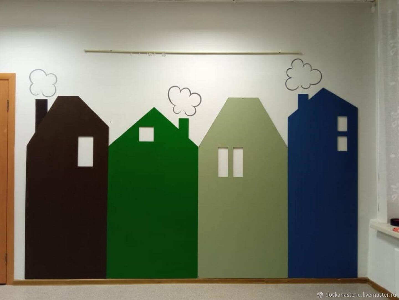 Меловые цветные доски домики любой формы